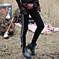 Aporia.As® Femme Taille Normale Jeans Noir Pour tous les jours Pantalon-MZ11002