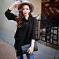 dabuwawa ženske povremeni / rad / vintage / jednostavan bluze, čvrste stalak dugi rukav