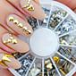 stříbrná zlatá mísí lak na nehty manikúra DIY příslušenství fossa nýt kovové náplast