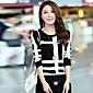 Žene Jednostavno / Ulični šik Ležerno/za svaki dan / Plus veličine Regularna Pullover,Plava / Bijela / Crna / Žuta Print Okrugli izrez