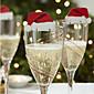 3ks červené víno sklo karta na Štědrý den designu je náhodný