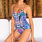 Women's Sexy Straped Backless One-piece Swimwear Print Polyester/Spendex/Nylon