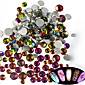 500-600pcs/bag Nail Art Dekorace drahokamu Pearls make-up Kosmetické Nail Art design