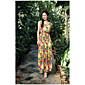 jednoduché květiny šaty vesta sukně šaty Sanya letní speciály