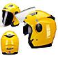 ジエカイオートバイヘルメットユニセックススクーターモトスヘルメットカスココンデンセットデュアルレンズ